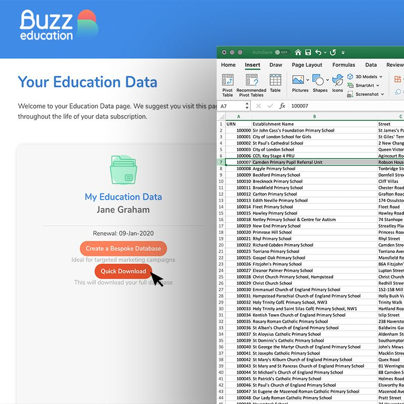 Create your own education database